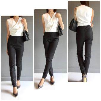 slim fit 1496664160 34955132 e813b47b475b3fa8b520a29dadfed021 product ขายราคาดี กางเกงทำงาน สีดำ ทรง Slim Fit ใส่สวย ผ้าญี่ปุ่นเนื้อดีมาก
