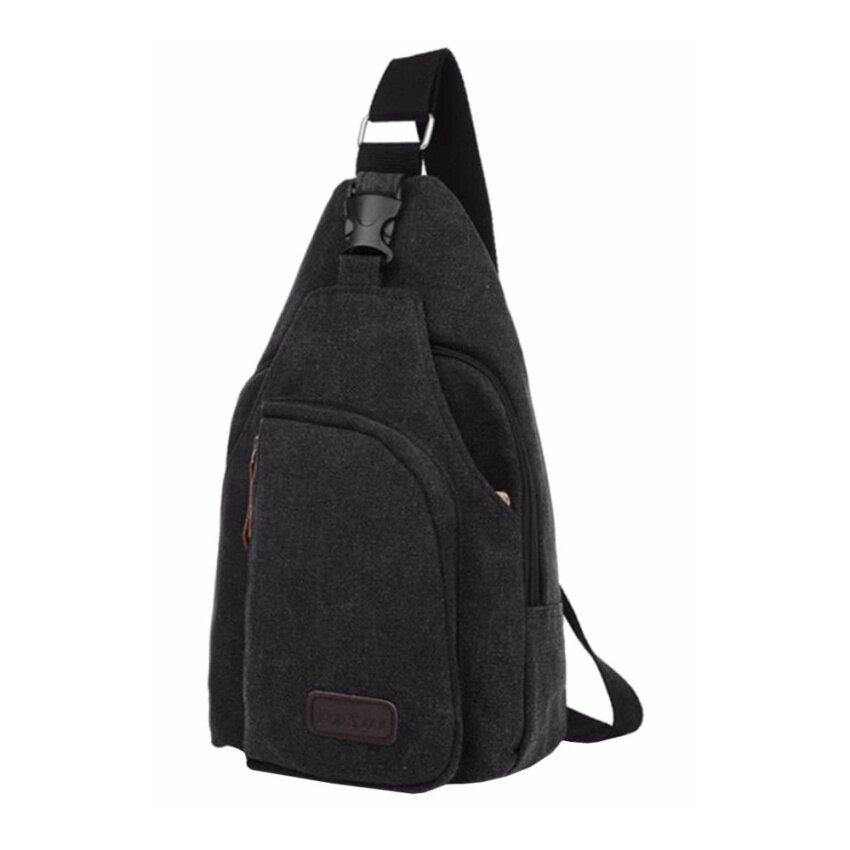 Smart Choices กระเป๋าสะพายไหล่ สำหรับสุภาพบุรุษ สีดำใบเล็ก สไตล์เกาหลี รุ่น MB-0666