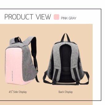 อยากขาย กระเป๋าเป้ กระเป๋าสะพายแฟชั่น ผ้ากันน้ำ Smart Lady Bag (Pink)