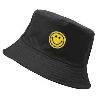 หมวกบักเก็ต Smile ดำ