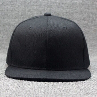 เพศชายเป็นฮิพฮอพปรับได้ใส่หมวกหมวกเบสบอล Snapback สีดำ (image 3)