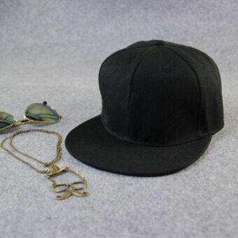 เพศชายเป็นฮิพฮอพปรับได้ใส่หมวกหมวกเบสบอล Snapback สีดำ (image 1)