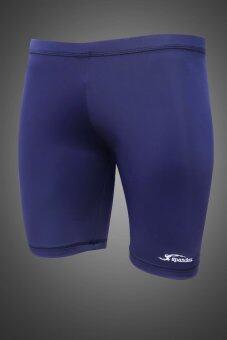 Spandex กางเกงรัดกล้ามเนื้อขาสั้น S001SF สีกรมท่า