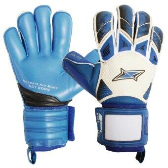 Sportland ถุงมือ โกล์ว SPL Goal Gloves PANZER I PLUS ฟิงเกอร์เซฟ Fingersave - WH/BL