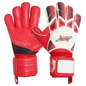 Sportland ถุงมือ โกล์ว SPL Goal Gloves PANZER I PLUS ฟิงเกอร์เซฟ Fingersave - WH/RD