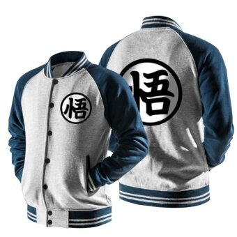 Harga Spring and autumn men's animation Baseball Jacket seven dragon balljacket coat (light grey) - intl