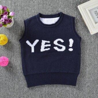 Spring Autumn Baby Cardigan Boy's Sweater Vest Girls Waistcoat Outwear Winter Coat Children Clothes - intl
