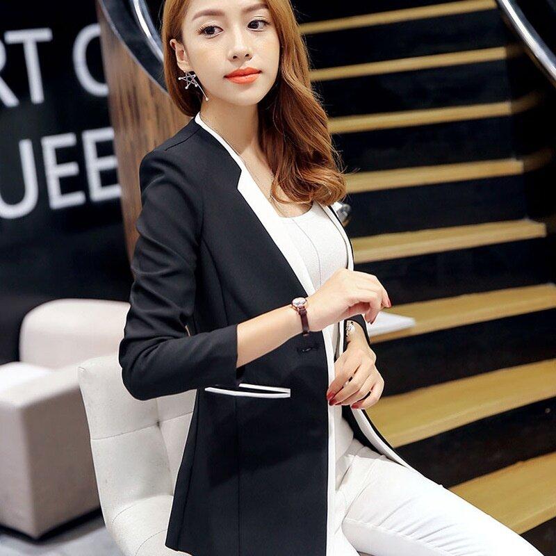 Spring Autumn New Suit Jacket Feminina Fashion Women Small Suit Jacket Slim Long Sleeve Blazer - intl