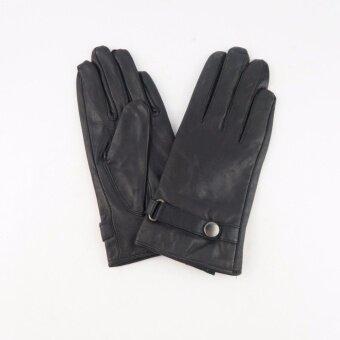 Squareladiesถุงมือหนังกันหนาว No.851080 (สีดำ)