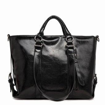 กระเป๋าใส่เอกสารถือสะพายข้างหนัง รุ่น st31 (สีดำ)