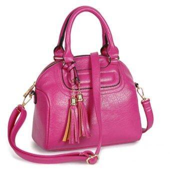ขอเสนอ กระเป๋าถือสะพายข้างหนัง รุ่น st830 (สีชมพู)