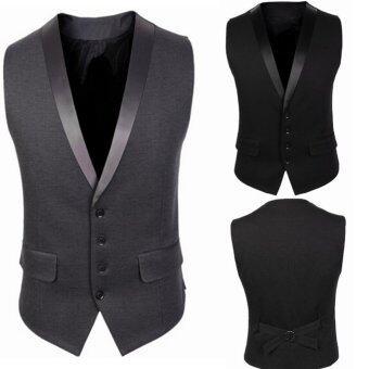 Stylish Men Jacket SuitVestSlim Fit Vest Casual Business Formal Vest Waistcoat