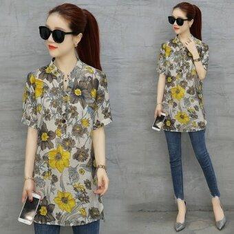 Suihua ส่วนยาวผ้าชีฟองเสื้อ (1 ดอก)