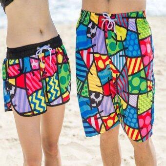 Summer lovers beach shorts leisure pants men's and women's hotpants beach resort honeymoon quick-drying loose beach lovers shortsWomen - intl - 5