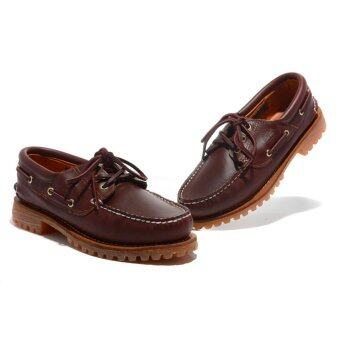 Harga Summer Men's Timberland 3-Eye Classic Lug Shoes Burgundy Pull-Up50009 EU40-45 - intl