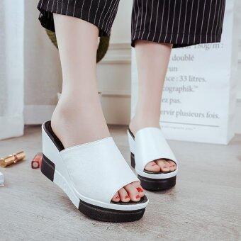 Summer New Open Toe Fish Head Fashion High Heels Wedge Sandals - intl