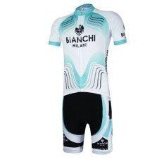 SUPER D SUPER D ชุดสั้นปั่นจักรยานลายทีม ยี่ห้อ:BIANCHI กางเกงเป้าเจล แบบ:ผู้ชาย/ผู้หญิง