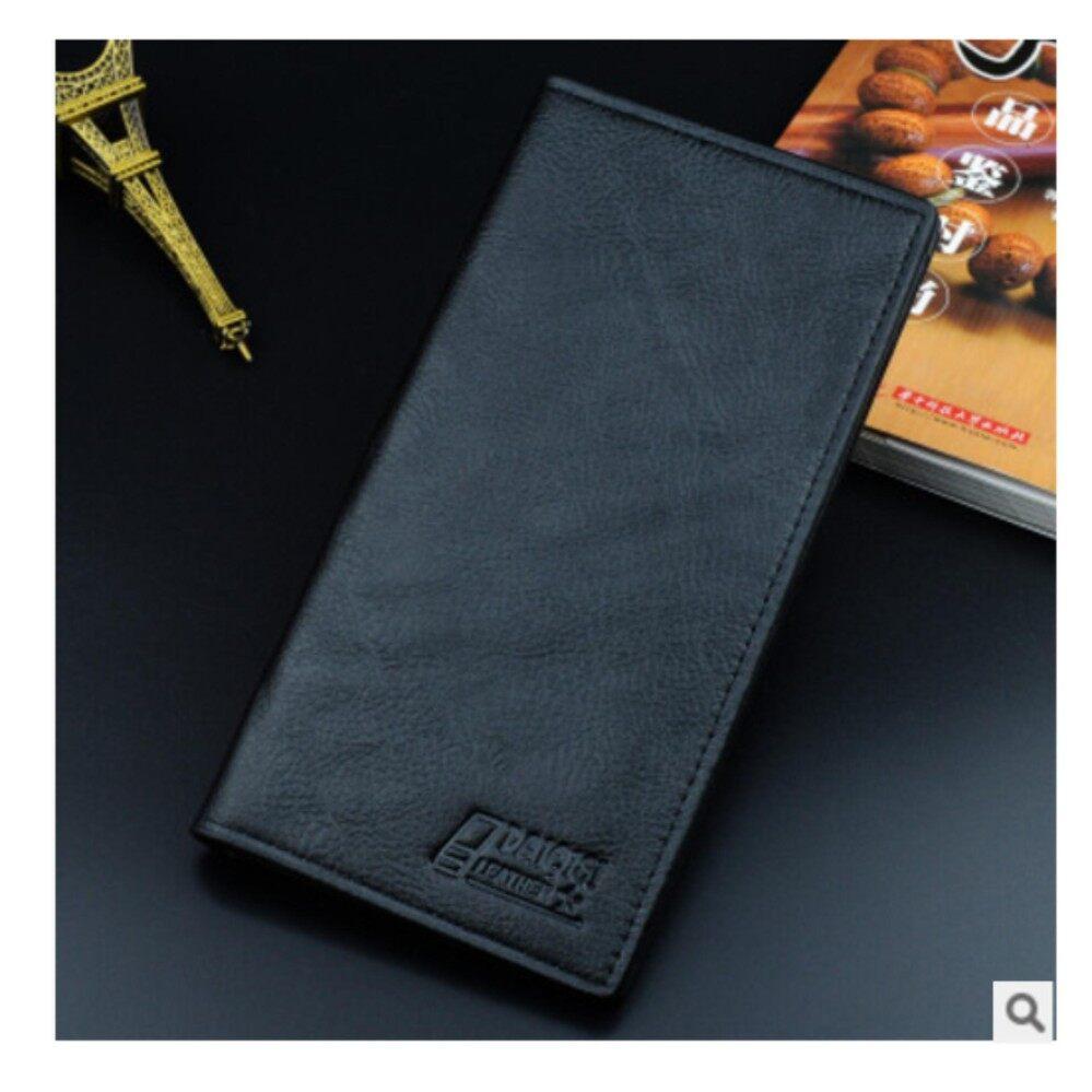 สุราษฎร์ธานี super JvGood Fashion Classic Men Soft Long Brand PU Leather Bifold Wallet Purse Male Clutch Bag with Card Holder