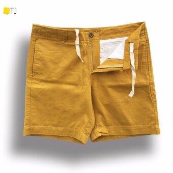 กางเกงขาสั้นฟอกนุ่ม super soft 16\สีเหลือง