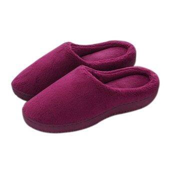 Super Trendy รองเท้าใส่ในบ้าน รุ่น เมมโมรี่โฟม (สีแดงเข้ม)