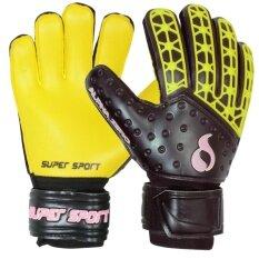 Supersport ถุงมือ โกล์ว SUPER Goal Gloves Alpha Zero YL/BK
