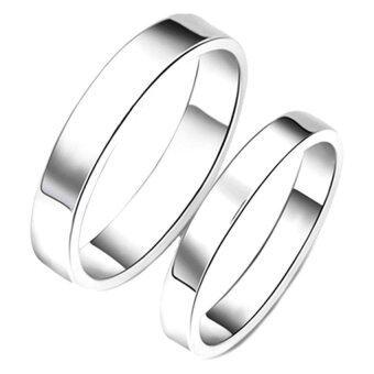 TANITTgemsแหวนคู่ แหวนคู่รักทองคำขาวแบบเกลี้ยง