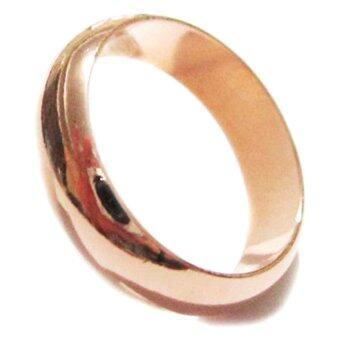 TANITTgems แหวนเกลี้ยง ตัวเรือนนากขัดเงา 18KGP 6 มม. - Rose Gold