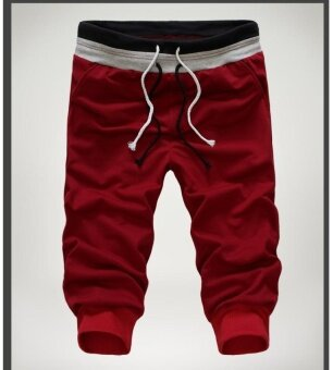 Teamtop Cotton SweatPants 2017 Fashion Mens Clothing Loose Soild\nJogging Casual Baggy Trousers Harem Sports Dance Pants Plus Size -\nintl