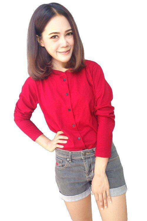 The Bow shirt (สีแดง)