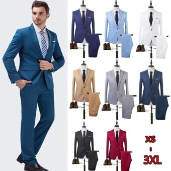 The High Quality Spring 2017 Business and Leisure Suit A Two-piece Suit The Groom's Best Man Wedding 8 Colors - intl