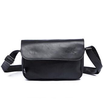 Otzi กระเป๋าสะพายไหล่ สะพายข้าง หนัง(PU) สไตส์คลาสสิกวินเทจ สีดำ