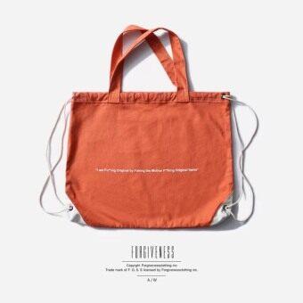 แบรนด์ Tide ยุโรปและอเมริกาใหม่ตัวอักษรเดิมถุงผ้าใบถุง (สีส้ม)