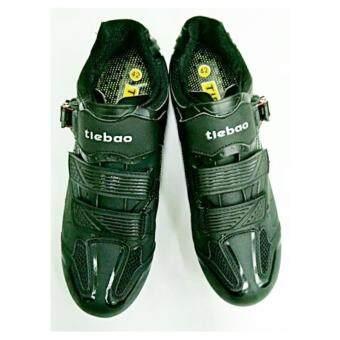 TieBao รองเท้าปั่นจักรยานเสือหมอบ/เสือภูเขา รุ่น TB36-B1413 สีดำ เบอร์ 40,41,42,43,44,45