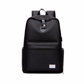 Tokyo boy กระเป๋าเป้สะพายไหล่ ใส่ Notebook ได้ ผ้าCanvasรุ่น SA04 - สีดำ