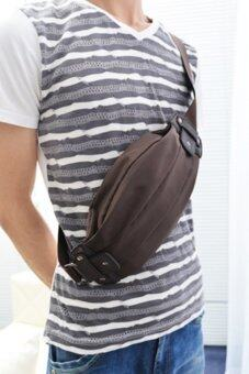 Tokyo Boy กระเป๋าสะพายไหล่ผู้ชาย คาดอก คาดเอว ไนล่อน รุ่น ND300 -สีน้ำตาล