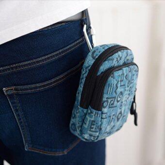 รีวิว Tokyo Boy กระเป๋าคาดเอว ห้อยหูกางเกง ชาย-หญิง รุ่น NK324 - (สีฟ้า)
