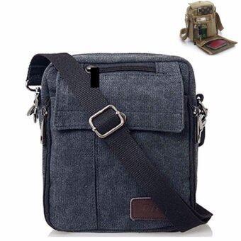เปรียบเทียบราคา Tokyoboy กระเป๋าสะพายข้างผู้ชาย ผ้า camvas รุ่น NB715 (สีดำ)