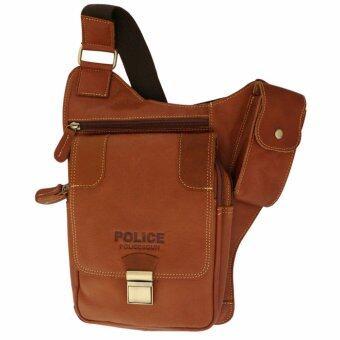 กระเป๋าสะพายข้าง ใส่ปืนพกสั้น ใส่ไอแพท และอุปกรณ์ต่างๆเป็นกระเป๋าหนังแท้ เหมาะสำหรับผู้ชายทุกท่าน รุ่น TP0120 สีน้ำตาล