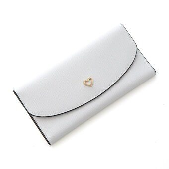 Traresey เกาหลีหญิงรูปแบบข้ามกระเป๋าสตางค์กระเป๋าสตางค์ (สีเทาอ่อน) (สีเทาอ่อน)