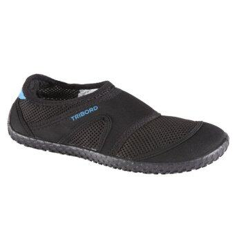 TRIBORD รองเท้าลุยน้ำ นุ่มสบาย ไม่ลื่น ยึดเกาะดีเยี่ยม รุ่น 100 (สีดำ)