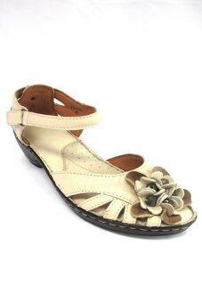 29November Genuine Leather รองเท้าหนังแท้และนิ่ม ส้นสูง รุ่น Laura Benette code 296-07B (สีครีม / Organic Cream)
