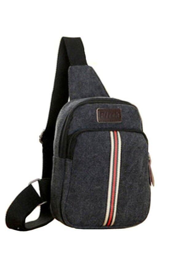 Trusty กระเป๋าสะพายผู้ชาย แคนวาส รุ่น Code 0734 (สีน้ำตาล)