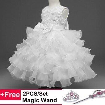 tutuwhite intl 1503558122 35806602 8565a3154fc3267596decfc0e50827fa product ถูก เด็กผู้หญิงงานเลี้ยงงานแต่งงานเจ้าหญิงอย่างเป็นทางการชุดลูกกุหลาบดอกไม้กุหลาบชุดTutu White