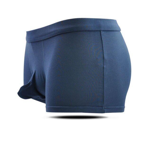 กางเกงในชาย บ๊อกเซอร์ สุดเซ็กซี่ รุ่นใหม่ เบาสบาย ใส่เหมือนไม่ได้ใส่ คลายกังวล ไม่ทำให้น้องชายอึดอัด Underware/Boxer - สีน้ำเงิน