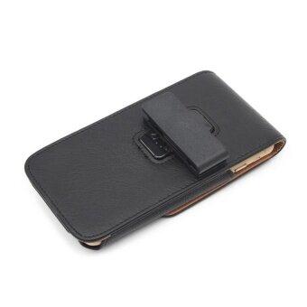 Universal Belt Clip Leather Case Mobile Phone Waist Bag Pouch Cover (Black) - intl - 5