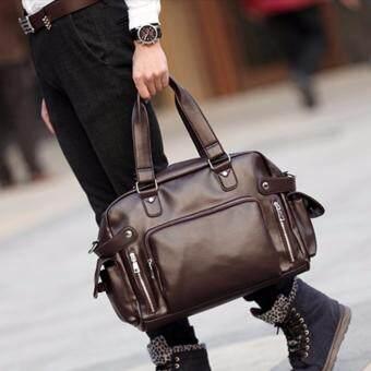 กระเป๋าสะพายไหล่ผู้ชาย หรือถือ พร้อมชอ่งใส่ NOTE BOOK รุ่น NE834 ( สีน้ำตาล)