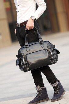 ต้องการขายด่วน กระเป๋าสะพายไหล่ผู้ชาย หรือถือ พร้อมชอ่งใส่ NOTE BOOK รุ่น NE834 ( สีดำ )