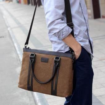 กระเป๋าสะพายข้าง หรือถือ รุ่น UP120 (สีน้ำตาล)