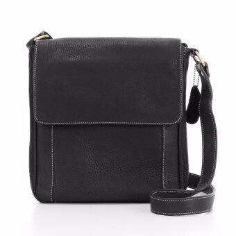 กระเป๋าสะพายหนังแท้ สำหรับผู้ชาย รุ่น Vencent สีดำ แบรนด์ Moonlight ของแท้ พร้อมถุงกันฝุุ่นและรับประกัน 1 ปีเต็ม ถูกกว่าใน shop