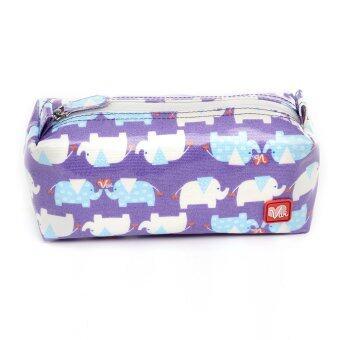 VIVI กระเป๋าแฟชั่นใส่ปากกา ดินสอ ผ้าแคนวาสเคลือบกันน้ำ รุ่น MINISQUARE ลาย ช้าง
